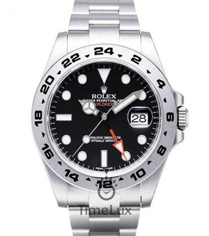 Replica Rolex Explorer II 42mm Black Dial - TimeLux - Replica Watches Greece