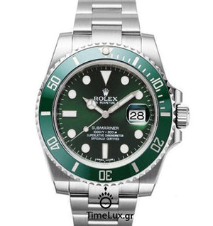Replica Rolex Submariner SS Green Ceramic Bezel - TimeLux - Replica Watches Greece