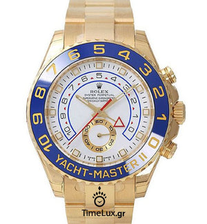Replica Rolex Yacht-Master II Gold Blue Ceramic Bezel 44mm - TimeLux - Replica Watches Greece