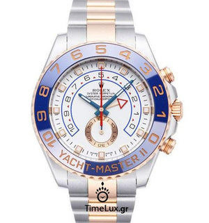 Replica Rolex Yacht-Master II SS / Everose Gold Blue Ceramic Bezel 44mm - TimeLux - Replica Watches Greece