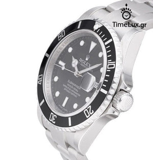Replica Rolex Submariner Date SS Black Ceramic Bezel - TimeLux - Replica Watches Greece