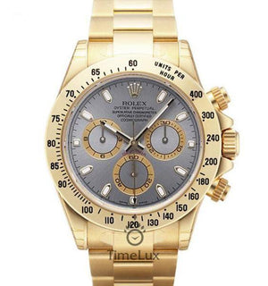 Replica Rolex Cosmograph Daytona Gold Gray Dial - TimeLux - Replica Watches Greece
