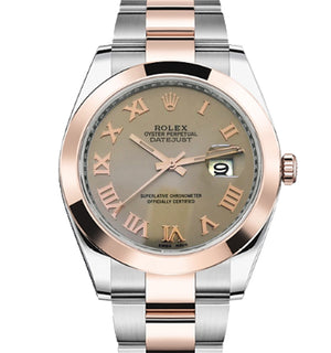 Replica Rolex Datejust 41 mm 2-Tone Oyster Bezel Gray Dial Roman Markers - TimeLux - Replica Watches Greece
