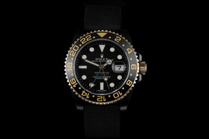 Replica Rolex GMT-Master II SS Pro Hunter Gold Bezel - TimeLux - Replica Watches Greece