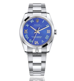 Replica Rolex Datejust 31mm Oyster Bezel Blue Dial Roman Markers - TimeLux - Replica Watches Greece