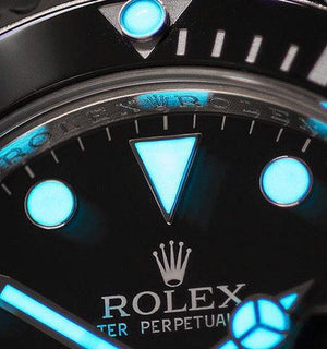 Replica Rolex Submariner No-Date SS Black Ceramic - TimeLux - Replica Watches Greece