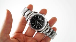 Replica Rolex Sky-Dweller SS Black Dial Stick Markers - TimeLux - Replica Watches Greece