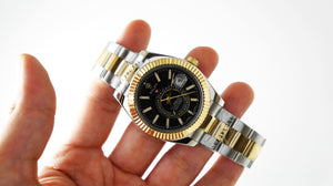 Replica Rolex Sky-Dweller 2-Tone Black Dial Stick Markers - TimeLux - Replica Watches Greece