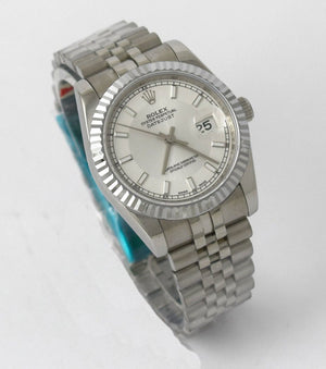 Replica Rolex Datejust Jubilee 36mm White Dial Stick Markers - TimeLux - Replica Watches Greece