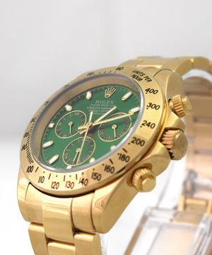 Replica Rolex Cosmograph Daytona Gold Green Dial - TimeLux - Replica Watches Greece