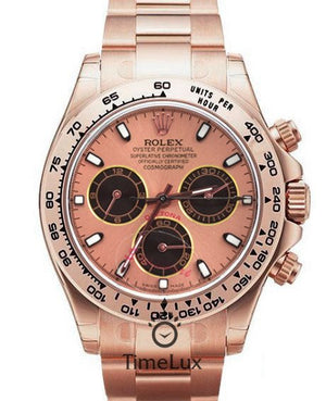 Replica Rolex Cosmograph Daytona Everose Dial Everose Full Gold - TimeLux - Replica Watches Greece