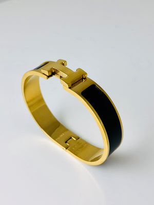 Replica Hermes Bracelet Thick Gold - TimeLux - Replica Watches Greece