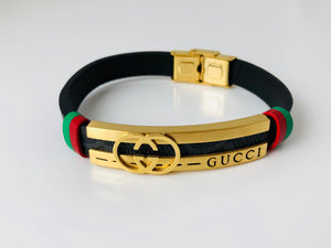 Replica Gucci Bracelet Leather Strap - TimeLux - Replica Watches Greece