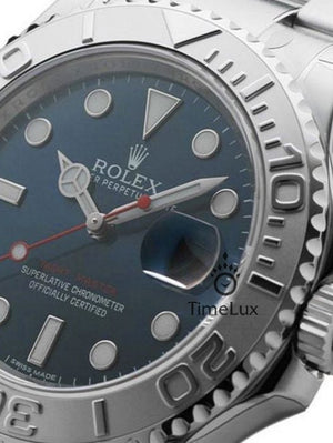Replica Rolex Yacht-Master 40mm Blue Dial Platinum - TimeLux - Replica Watches Greece