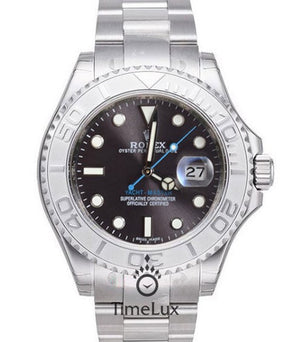 Replica Rolex Yacht-Master 40mm Gray Dial Platinum - TimeLux - Replica Watches Greece