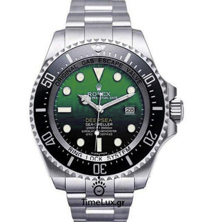 Replica Rolex Sea-Dweller Deepsea D-Green Dial Ceramic 50th Anniversary - TimeLux - Replica Watches Greece