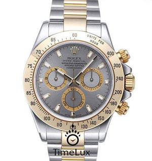 Replica Rolex Cosmograph Daytona 2-tone Gray Dial - TimeLux - Replica Watches Greece