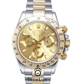Replica Rolex Cosmograph Daytona 2-tone Gold Dial - TimeLux - Replica Watches Greece