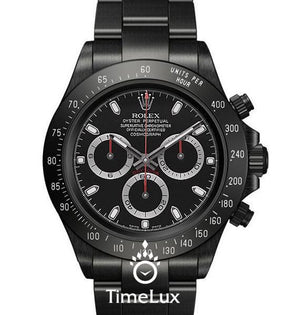 Replica Rolex Cosmograph Daytona DLC Black Dial Pro Hunter - TimeLux - Replica Watches Greece