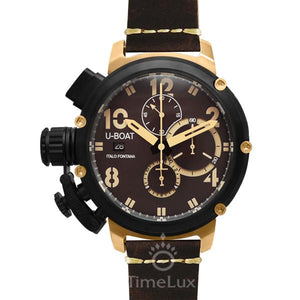 Replica U-BOAT Chimera 46mm Limited Edition Leather Strap Brown Dial - TimeLux - Replica Watches Greece