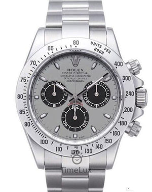 Replica Rolex Cosmograph Daytona Silver/Black Dial SS - TimeLux - Replica Watches Greece