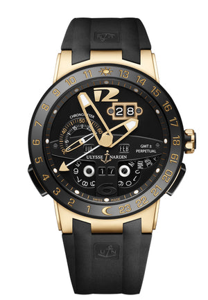 Replica Ulysee Nardin El Toro Black Dial Ceramic Bezel Gold Case - TimeLux - Replica Watches Greece