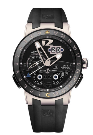 Replica Ulysee Nardin El Toro Black Dial Ceramic Bezel Silver Case - TimeLux - Replica Watches Greece