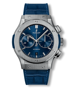 Replica Hublot Classic Fusion SS Blue Dial 42mm Chronograph - TimeLux - Replica Watches Greece