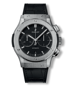 Replica Hublot Classic Fusion SS Black Dial 42mm Chronograph - TimeLux - Replica Watches Greece