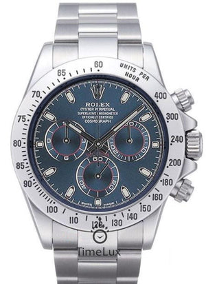 Replica Rolex Cosmograph Daytona Blue Dial SS - TimeLux - Replica Watches Greece