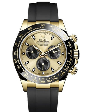 Replica Rolex Daytona Cosmograph Gold Dial Black Ceramic Bezel Baselworld 2017 - TimeLux - Replica Watches Greece