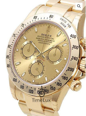 Replica Rolex Cosmograph Daytona Gold Gold Dial - TimeLux - Replica Watches Greece