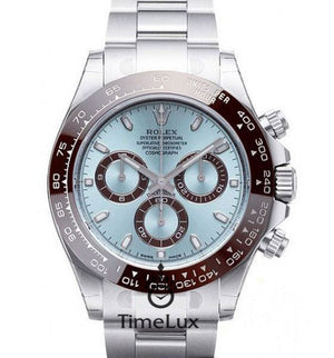 Replica Rolex Cosmograph Daytona SS Ceramic Blue Dial - TimeLux - Replica Watches Greece