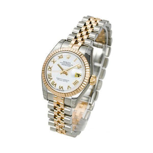 Replica Rolex Datejust 31mm 2-Tone Gold White Roman Markers - TimeLux - Replica Watches Greece
