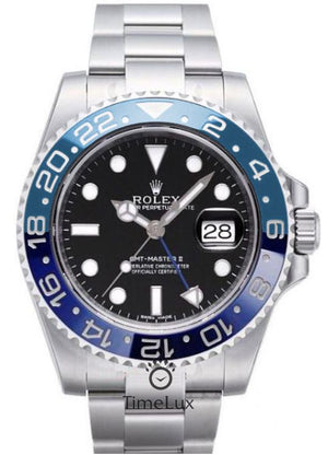 Replica Rolex GMT-Master II SS Cien/Blue Ceramic Bezel - TimeLux - Replica Watches Greece