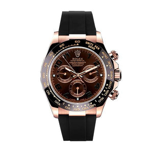 Replica Rolex Cosmograph Daytona Choco Dial Strap Rubber B Ceramic - TimeLux - Replica Watches Greece