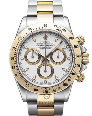 Replica Rolex Cosmograph Daytona 2-tone White Dial - TimeLux - Replica Watches Greece