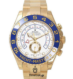 Replica Rolex Yacht-Master II Gold Blue Ceramic Bezel 44mm Last Dial - TimeLux - Replica Watches Greece