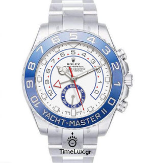 Replica Rolex Yacht-Master II SS Blue Ceramic Bezel 44mm Last Dial - TimeLux - Replica Watches Greece