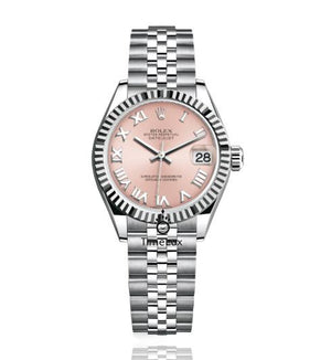 Replica Rolex Datejust 31mm Flute Bezel Pink Dial Roman Markers - TimeLux - Replica Watches Greece