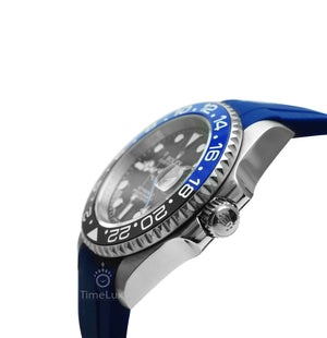 Replica Rolex GMT-Master II SS Blue Batman Ceramic Bezel - TimeLux - Replica Watches Greece