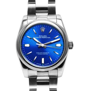 Replica Rolex Datejust 36mm Oystel Bezel Blue Dial - TimeLux - Replica Watches Greece