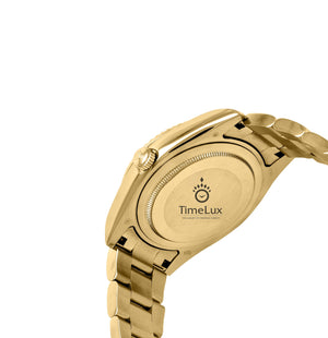 Replica Rolex Sky-Dweller Gold Black Dial Stick Markers - TimeLux - Replica Watches Greece