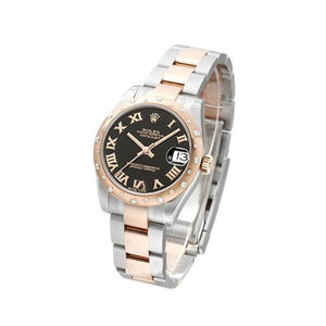 Replica Rolex Datejust 36mm 2-Tone Bronze Black Roman Markers - TimeLux - Replica Watches Greece