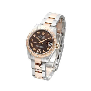 Replica Rolex Datejust 36mm 2-Tone Bronze Chocolate Roman Diamonds - TimeLux - Replica Watches Greece