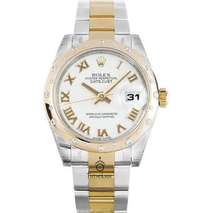 Replica Rolex Datejust 31mm 2-Tone Gold Diamond Bezel Roman Markers - TimeLux - Replica Watches Greece