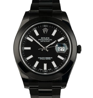 Rolex Datejust 41 mm Pro Hunter Black Dial Stick Markers, Ρολόι χειρός/Wristwatch, Rolex, TimeLux - Replica Watches Greece