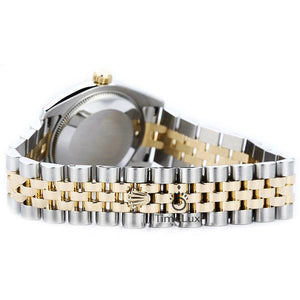 Replica Datejust 36mm 2-Tone Gold Gold Dial Stick Markers - TimeLux - Replica Watches Greece
