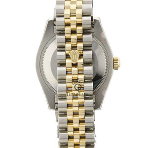 Replica Datejust 36mm 2-Tone Gold Black Dial Stick Markers - TimeLux - Replica Watches Greece