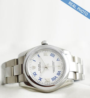 Replica Rolex Datejust 31mm Oyster Bezel White Dial Roman Markers - TimeLux - Replica Watches Greece